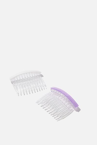 Hair Clips, S PURPLE PEARLY BARRETTE