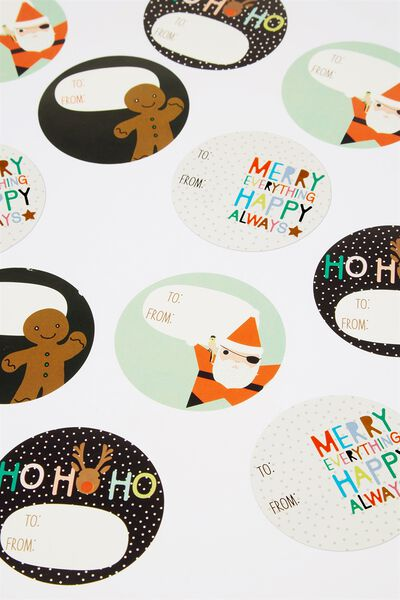 Wrap Stickers, CHRISTMAS WORDS