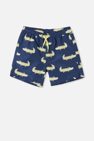Bailey Board Short, SKETCHY CROC/INDIGO