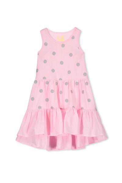 Christabel Dress, PINK SORBET/SILVER SPOT