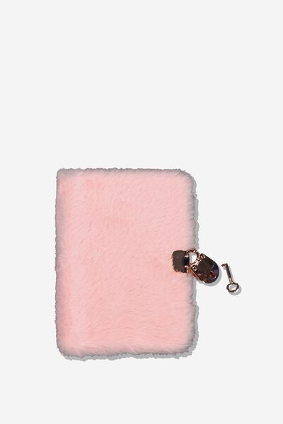 A6 Secret Notebook, PINK PLUSH