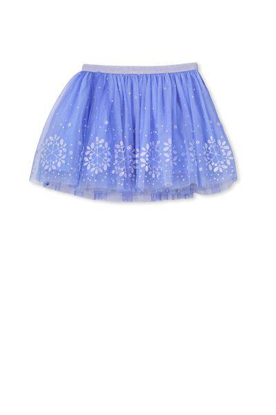 Trixiebelle Tulle Skirt, VISTA BLUE/SNOWFLAKES