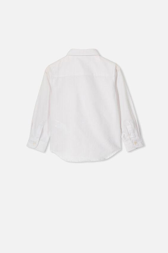 Prep Long Sleeve Shirt, WHITE OXFORD