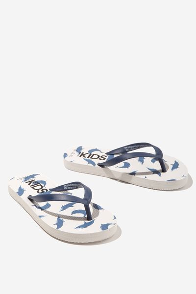 Printed Flip Flop, DOLPHIN BLUE
