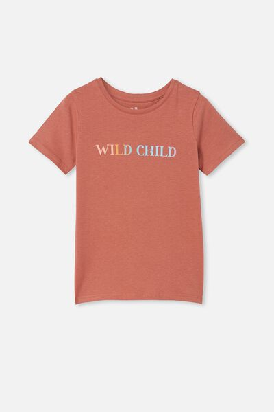 Penelope Short Sleeve Tee, CHUTNEY/RAINBOW WILD CHILD