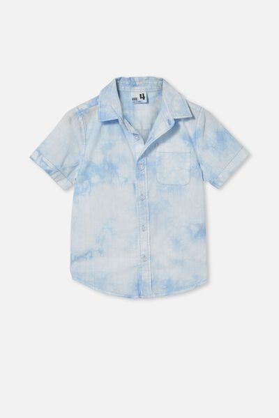 Resort Short Sleeve Shirt, DUSK BLUE/TIE DYE