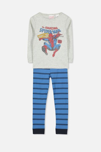Harry Long Sleeve Boys PJ Set, LCN MAR HERE COMES SPIDEY
