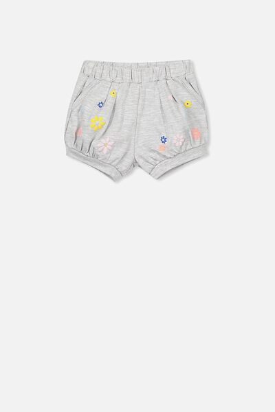 Charlotte Short, LIGHT GREY MARLE/FLOWER