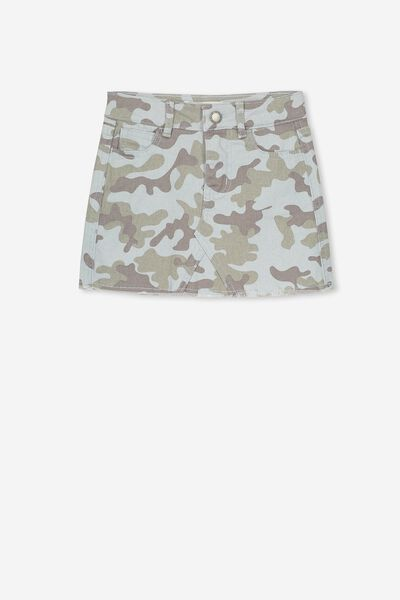 Finn Denim Skirt, SUMMER CAMO