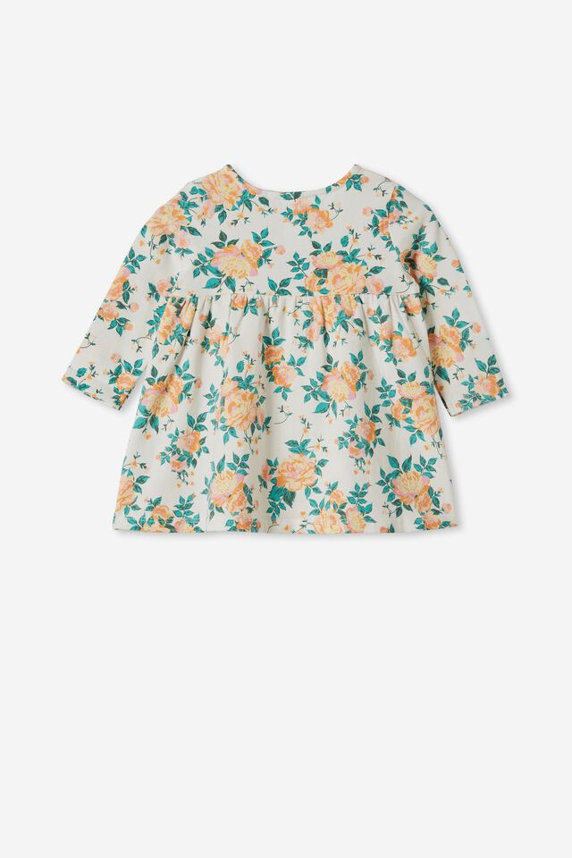 Molly Long Sleeve Dress, VANILLA/MELON POP WHITBY FLORAL