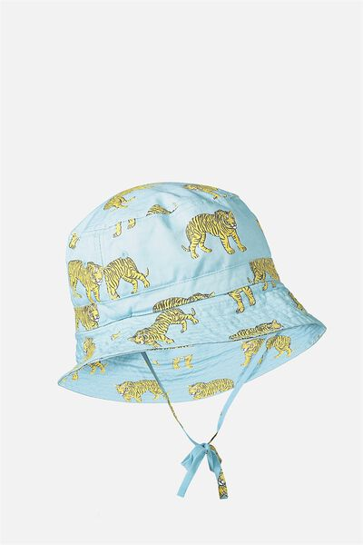 Kids Bucket Hat, PALE BLUE/TIGER