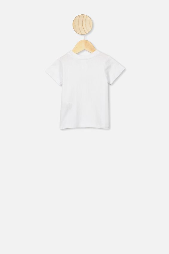 Jamie Short Sleeve Tee, WHITE/HANGRY