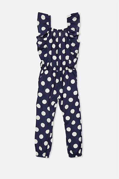 Kieri Long Jumpsuit, PEACOAT/SPOT