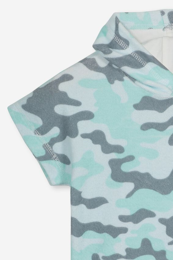 White Haven Swim Towel, BLUE CAMO