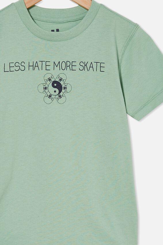 Max Skater Short Sleeve Tee, SMASHED AVO/LESS HATE MORE SKATE