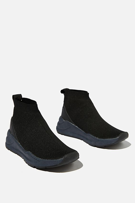 Knitted Trainer, BLACK