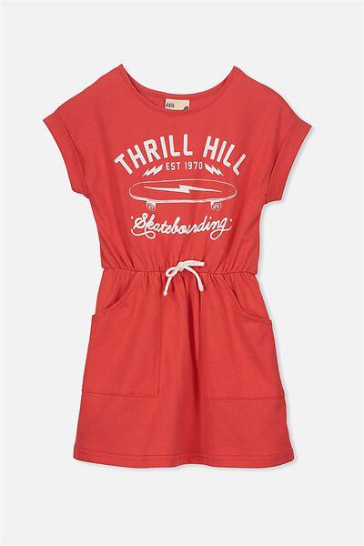 Sibella Short Sleeve Dress, BITTERSWEET/THRILL HILL
