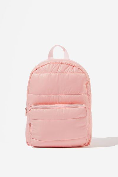 Puffer Backpack, PINK