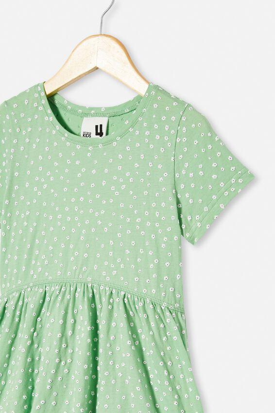 Freya Short Sleeve Dress, SPEARMINT/DAISY