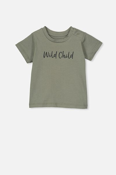 Jamie Short Sleeve Tee, SILVER SAGE/WILD CHILD