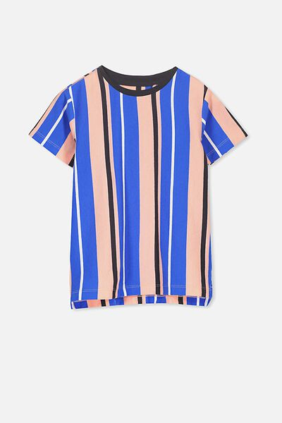 Max Short Sleeve Tee, TANGO DREAM VERTICAL STRIPE/SIS