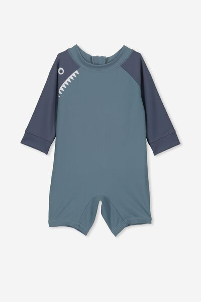 Harris One Piece, DEEP POOL BLUE/HUNGRY SHARK