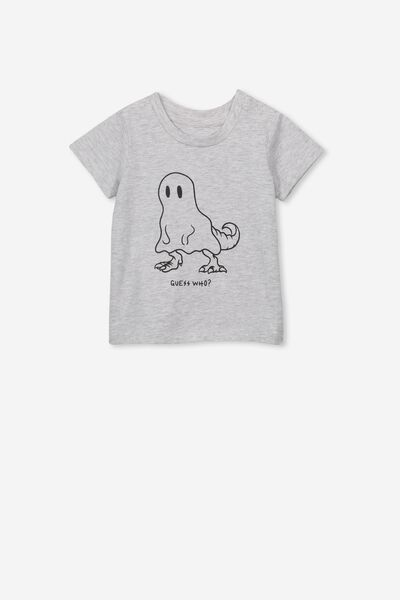 Jamie Short Sleeve Tee, CLOUD MARLE/GUESS WHO GHOST