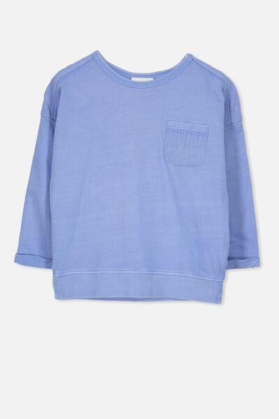 Lucia Long Sleeve Tee, CORNFLOWER BLUE