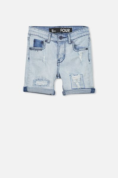 Pacey Denim Short, SUN BLEACH BLUE TWO