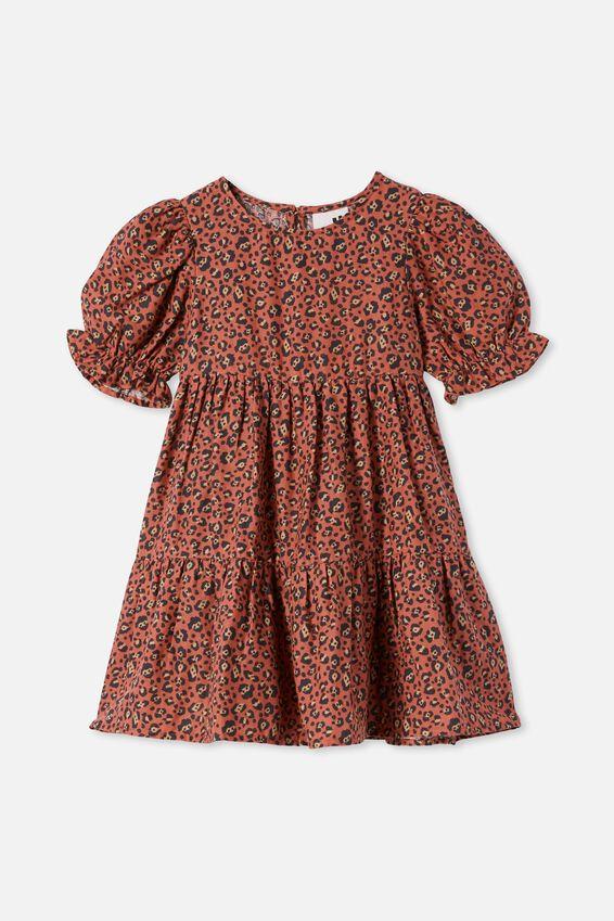 Joy Short Sleeve Dress, CHUTNEY LEOPARD