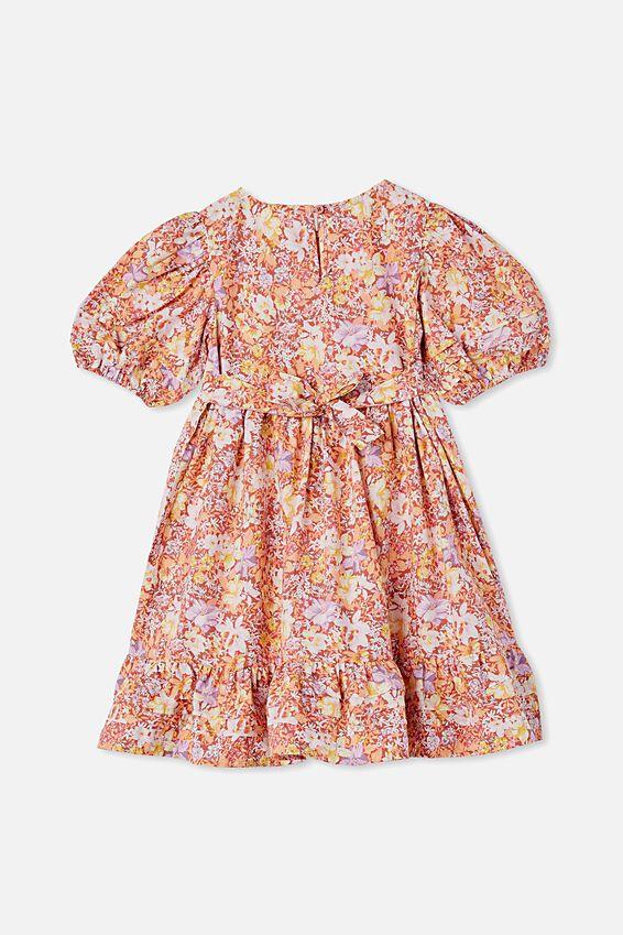 Mika Short Sleeve Dress, COASTAL FLORAL