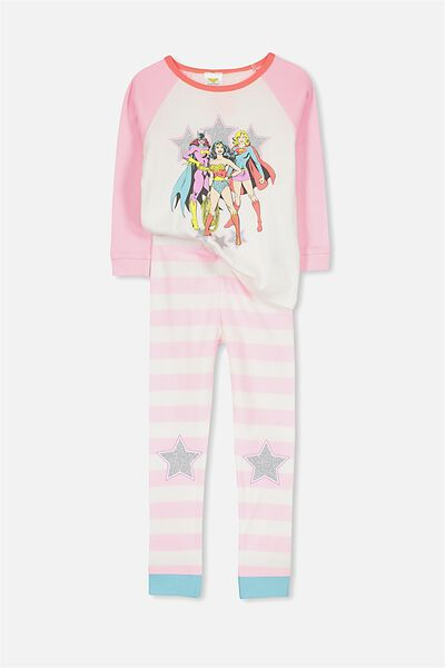 Heidi Girls Long Sleeve PJ Set, GIRLS RULE THE WORLD