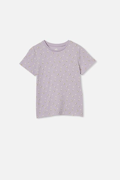 Penelope Short Sleeve Tee, VINTAGE LILAC/DITSY FLORAL