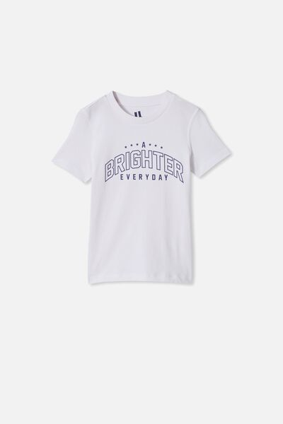 Max Skater Short Sleeve Tee, RETRO WHITE/A BRIGHTER EVERYDAY