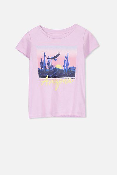 Penelope Short Sleeve Tee, LILAC SORBET/ARIZONA/SET IN