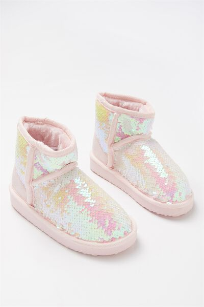 Sleepy Homeboot, MID IRIDESCENT SEQUINS