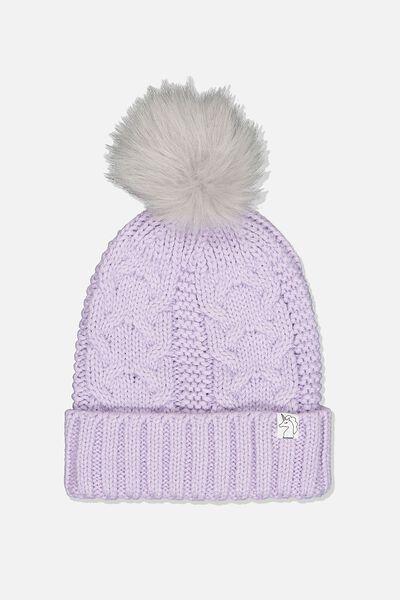 Winter Knit Beanie, VINTAGE LILAC