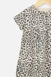 Milly Short Sleeve Dress, CARAMEL MARLE/SUMMER OCELOT