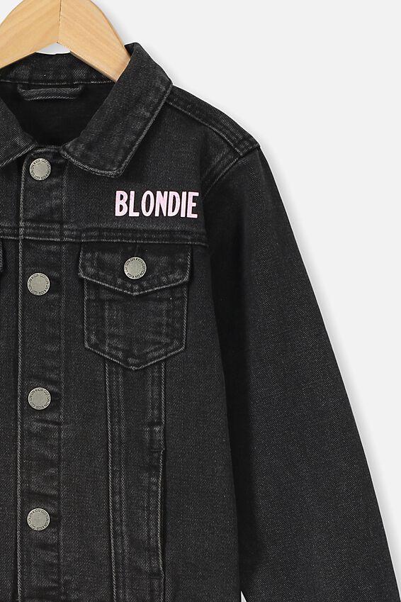 Lux Quinn Denim Jacket, LCN EAS BLACK WASH/BLONDIE