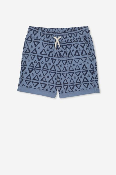 Henry Slouch Short, DUSTY BLUE/GEO