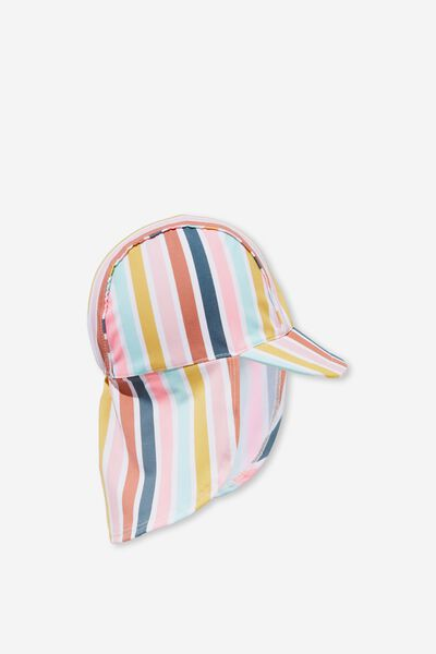 Newborn Sonny Swim Hat, GELATI MULTI STRIPE