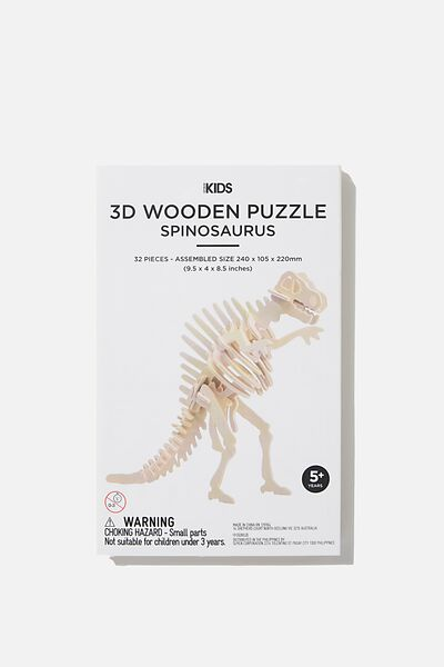 Wooden 3D Puzzle, SPINOSAURUS