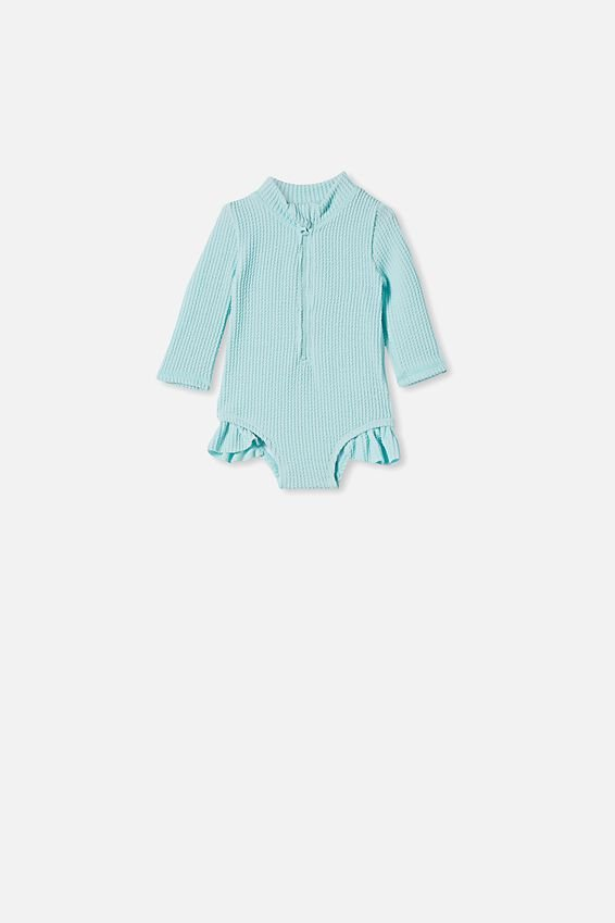 Elise Long Sleeve Swimsuit, DREAM BLUE