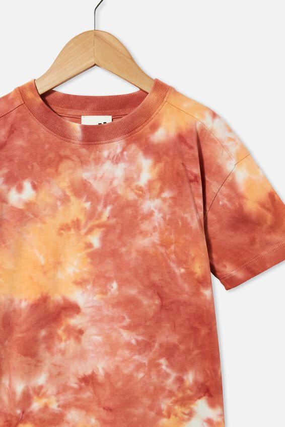 Scout Drop Shoulder Short Sleeve Tee, CHUTNEY/RETRO WHITE/MELON POP TIE DYE