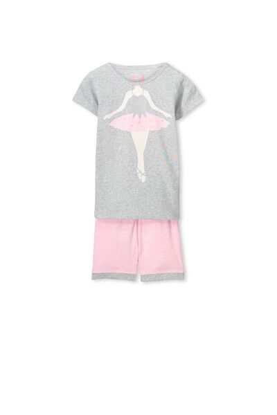 Chloe Short Sleeve Girls Pj Set, IM A BALLERINA