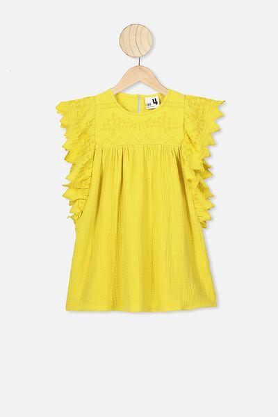 Maggie Short Sleeve Dress, SUNSHINE
