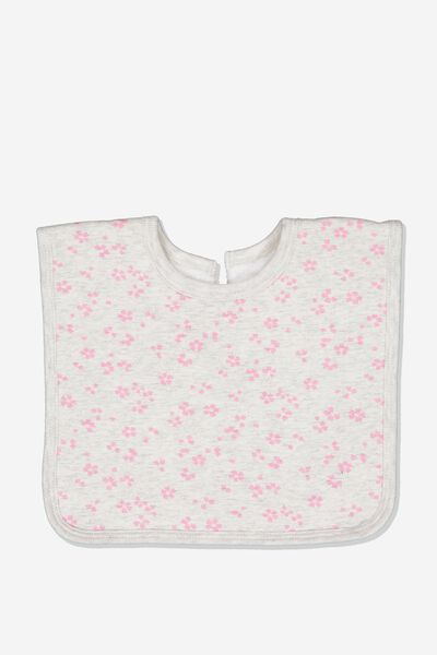 The Everyday Bib, SOFT GREY MARLE/EMMA FLORAL