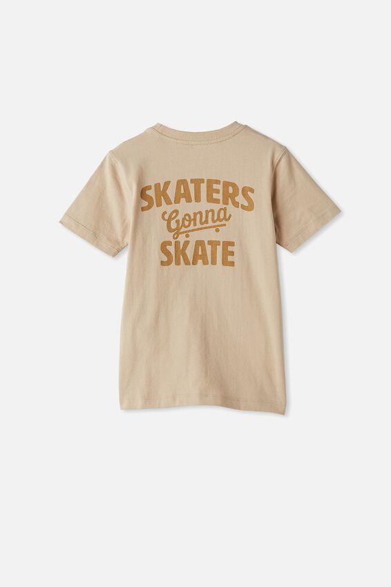 Max Skater Short Sleeve Tee, SEMOLINA/SKATERS GONNA SKATE
