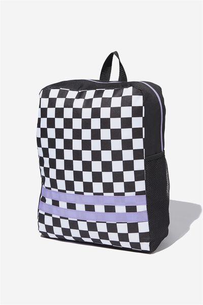 Back To School Backpack, CHECKBOARD
