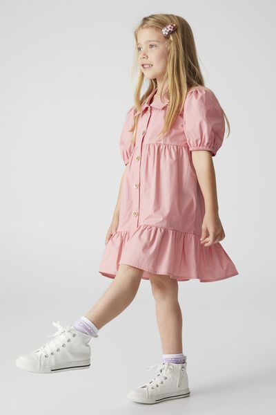 Jamala Short Sleeve Dress, MUSK ROSE